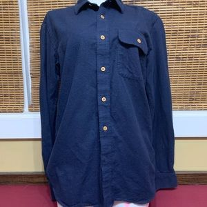 Muji Yak wool Men's button down w/pocket - Navy